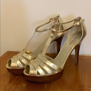 Guess gold shoes